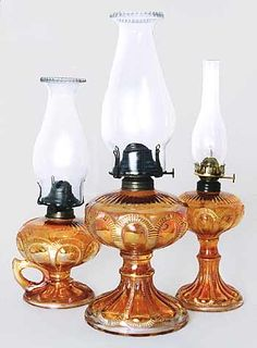 Carnival Glass Oil lamps