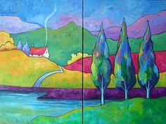 Gillian Mowbray, Lakeland (Diptych)