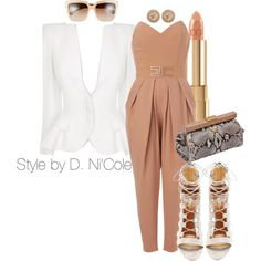 A fashion look from December 2014 featuring Alexander McQueen blazers, Aquazzura sandals and Prada clutches. Browse and shop related looks.