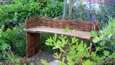 Bank z.T. aus alten Brettern / Bench partly made of old planks / Upcycling