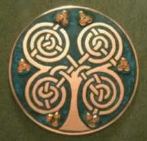 champleve enamel celtic rowan tree by imagocorvi Celtic Symbols, Celtic Art, Ancient Symbols, Celtic Knots, Ancient Egypt, Celtic Patterns, Celtic Designs, Celtic Druids, Inspiration Art