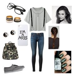 """Untitled #51"" by bookwormcrazy ❤ liked on Polyvore featuring Vans, AG Adriano Goldschmied, LAUREN MOSHI, Wet Seal, Forever 21 and Accessorize"