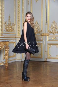 Robe Nana Baila crêpe fluide évasée sur cpourl.fr #cpourl Glamour, Style, Fashion, Fashion Ideas, Trendy Outfits, Dress Skirt, Swag, Moda, Fashion Styles