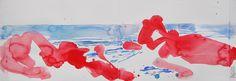 Red rocks. Lex Hamers. Watercolor, 17,5 x 50 cm. 2013