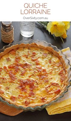 Quiche Lorraine Recipe - this classic is so quick to whip up. Just pop it in the oven for a tasty lunch or dinner.