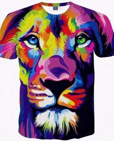 957ad739e73 Men s 3D Lion T-Shirts - Shop Buy Online - Safe Online Shopping -  VibeLuck.com