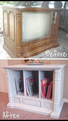 A great renovation of something old that you can find SO CHEAP at thrift stores or yard sales!!