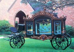 1860 German Hearse (This one saw service until 1989! It was sold and restored in the USA)  Scan by Headless Fritz of the American Funeral Service collector calendar, 1996