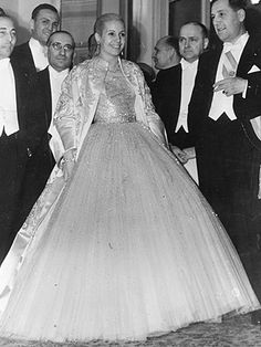 eva peron's iconic dior ball gown