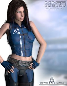 Last picture before sleeping, this time it's Ashley Williams, another romance option in the Mass Effect games. The character of Ashley can dies on the f. Mass Effect Characters, Mass Effect Games, Mass Effect Art, Female Characters, Ashley Williams Mass Effect, Futuristic Costume, Sience Fiction, Mass Effect Universe, Cyberpunk Girl