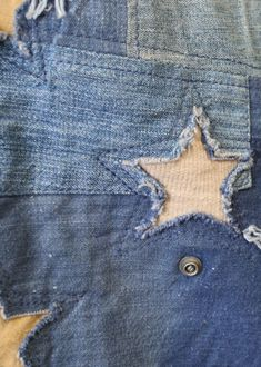 Custom-Made Vintage Patchwork Star Flag Vintage Cotton, Vintage Denim, Trend Council, Visible Mending, Denim Crafts, Vintage Embroidery, Embroidery Patterns, Fabric Yarn, Denim And Lace