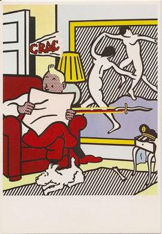 Roy Lichtenstein - Tintin Reading (1994)