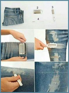 Löcher in Jeans