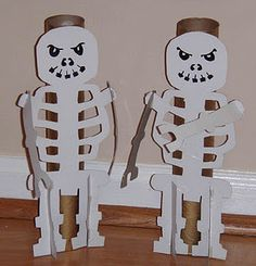 skeleton bowling game for ninja party (with template)