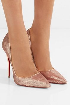 03a20b416a0 Christian Louboutin so kate 120 sequined canvas pumps.  christianlouboutin   nudeshoes  pumps