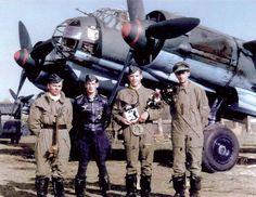 German Ju-88A-4 bomber crew .
