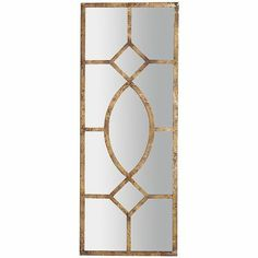 """2 OR 3 OF Antiqued Mirror Wall Panel $119  •For indoor/outdoor use •Color: Gold •Glass, iron, engineered wood •19.50""""W x 0.50""""D x 51""""H"""