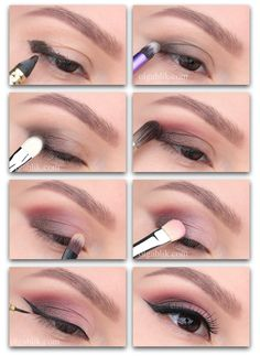 62 Ideas Eye Makeup For Beginners Faces Eye Makeup Art, Dark Skin Makeup, Makeup For Green Eyes, Contour Makeup, Eyeshadow Makeup, Beauty Make-up, Beauty Makeup Tips, Daily Make Up, Makeup Spray