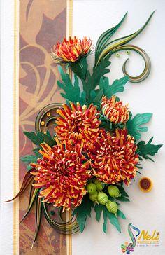 Neli Quilling Art: Chrysanthemums                              …