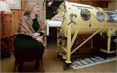 """Martha Mason spent over 60 years in an iron lung after contracting polio at 11 years of age in September 1939. It didn't, however, stop her from living her life. She graduated from high school and college at the top of her class. In 2003, she wrote her memoir titled, """"Breathe"""". She died in her sleep in 2009."""