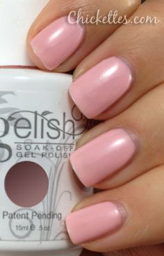 Gelish Pink Smoothie Color Swatch I don't like pink but i would wear this color. Petty and almost neutral