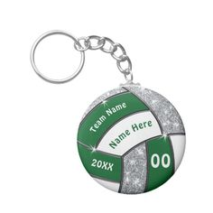 Shop Green, White and Silver Cheap Volleyball Giveaways Keychain created by LittleLindaPinda. Personalize it with photos & text or purchase as is! Volleyball Locker Decorations, Volleyball Team Gifts, Volleyball Party, Little Linda, Senior Night Gifts, Customizable Gifts, Make Design, Gifts For Girls, Giveaways