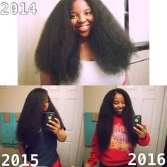 kinky straight 4c natural hair growth journey