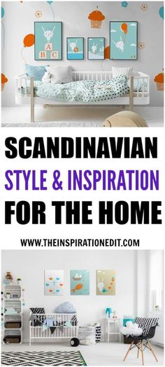 Here are some fabulous Scandinavian style interior ideas for the childs room. Kids bedroom, nursery or playroom.