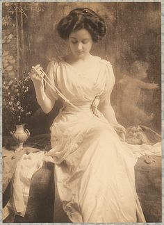 The Pearl Necklace. By Franck Eugene. Circa 1900.