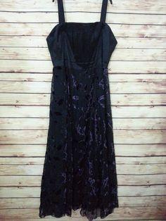 NWOT IGIGI maxi dress size 30 black purple velvet sleeveless removable straps #IGIGI #EmpireWaistMaxi #Casual