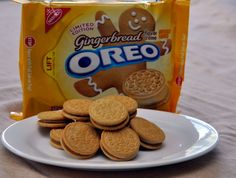 Gingerbread Oreo Cookies - how will I be able to resist buying these?!?!?!?