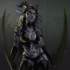 warcraft-art-gallery: Night Elf Demon Hunter [Artist: N-pitlig. Dark Fantasy Art, Fantasy Girl, Fantasy Artwork, Elves Fantasy, Fantasy Warrior, Fantasy Adventurer, Warcraft Art, World Of Warcraft, Warcraft Legion