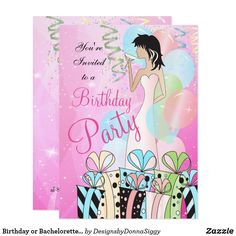 Birthday or Bachelorette Party Diva Princess Girl Invitation Bachelorette Invitations, Zazzle Invitations, Birthday Invitations, Exactly Like You, Princess Girl, Youre Invited, Girls Night Out, Colorful Backgrounds, Diva