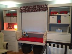 IKEA Hackers: Mock Built Ins with Malm and Billy, would love for kids room Billy Ikea, Ikea Billy Bookcase Hack, Billy Bookcases, Bookshelves, Ikea Kids Room, Kids Room Furniture, Kids Rooms, Ikea Hacks, Ikea Hack Bedroom