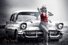 Back in the time pinup pinupgirl retro vintage vintagefashion musclecars timetravel rockabilly rockabillystyle vintagegirl retrodesign vintagecar Car Girls, Pin Up Girls, Vintage Girls, Retro Vintage, White Jeep Wrangler, Dog Car Accessories, Best Family Cars, New Bmw, Cute Cars