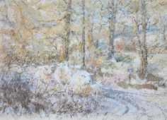 Diana Armfield RWS, Winter Above Parc, Watercolour, POA, Contact info@banksidegallery.com for further details. See www.banksidegallery.com for other prints and paintings