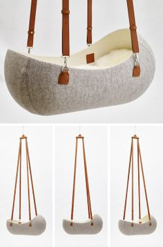 "contemporist:  Oszkar Vagi Designs The ""Little Nest"" Felt Cradle"