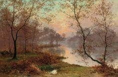 Rigolot, Albert Gabriel (b,1862)- Lake at Sunset