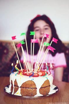 Strawberries 'n Cream Birthday Cake (Gluten Free) | FamilyFreshCooking.com