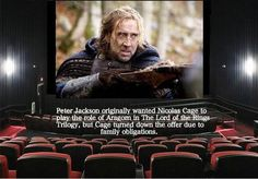LOTR fact- HUGE mistake if Cage would've taken it. I might not even like LOTR. Prayer Of Thanks, One Does Not Simply, The Two Towers, Red Books, Geek Out, Book Fandoms, Music Tv, Thank God, Lord Of The Rings