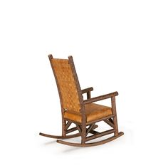 Rustic Rocking Chair #1188 with woven leather back by La Lune Collection
