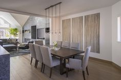 River park Dining/ Fireplace. Van Moore Construction