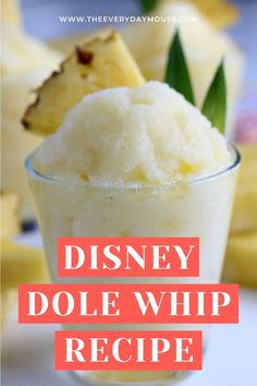 Like so many Disney World fans, my number one must-have snack is a Disney Dole Whip. Make this creamy family favorite at home with this easy three ingredient recipe. Disney Recipes, Disney Food, Disney Diy, Dole Whip Recipe, Pineapple Sorbet, Three Ingredient Recipes, Make Simple Syrup, Watermelon Recipes, Disney Dining