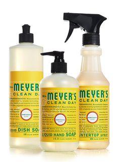 Honeysuckle Kitchen Basics Set from Mrs. Meyer's Clean Day.  #crueltyfree #noanimaltesting