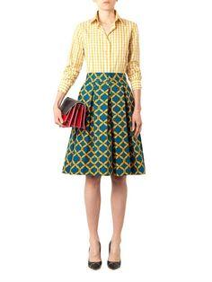 Delfina chain-print pleated skirt | Stella Jean | MATCHESFASHION.COM US