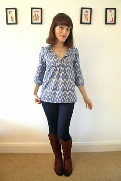 Tilly and the Buttons: Ikat Tova Blouse