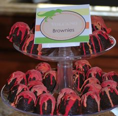 Dinosaur ROAR Birthday Party! Awesome for a boy birthday dessert at a Country Fair Party