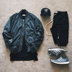 """WEBSTA @ streetfitgrid - #StreetFitGrid """"FOGgin it up in Mexico City."""" by @ldn2hk -Bomber, Tee, and Pants: Fog x Fear of God x Pac Sun by Jerry Lorenzo-Cap: Raiders-Shoes: Adidas Running"""