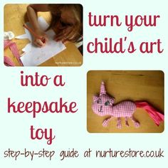 What do you do with all your child's drawings? Here's a step-by-step guide to turn one into a keepsake toy.