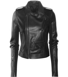 Rick Owens Classic Leather Jacket For Spring-Summer 2017
